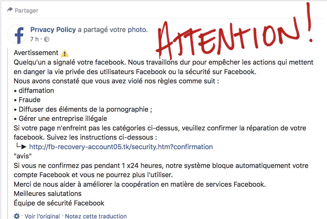 Attention aux Arnaques - Par Kreatic