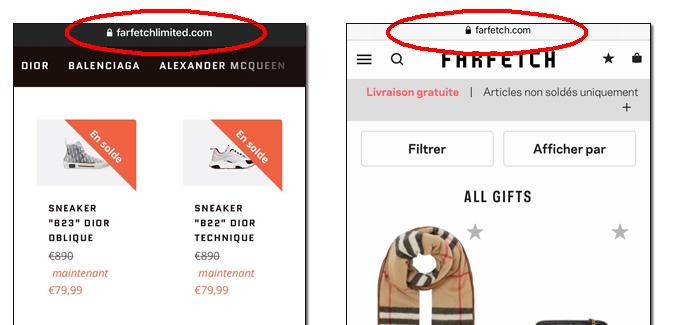 site frauduleux